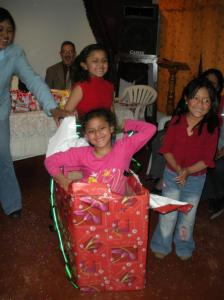 A Mother's Day presentation with Dayana popping out of a box. 2009